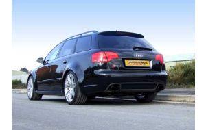 Milltek Sport uitlaat Audi RS4 B7 Sheen black tips