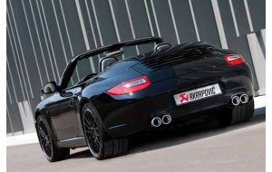 Akrapovic uitlaat Porsche 997 Carrera S Coupe cabrio Targa 4 4S Slip-on system