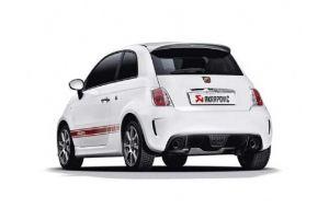 Akrapovic uitlaat Fiat 500 500C Abarth Slip-on line