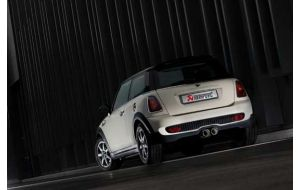 Akrapovic uitlaat Mini Cooper S en cabrio R56 R57 Evolution system