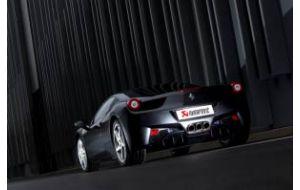 Akrapovic uitlaat Ferrari 458 Italia Spider Titanium slip-on system