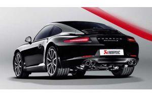 Akrapovic uitlaat Porsche 911 Carrera 991 S 4 4S GTS Slip on line Titanium
