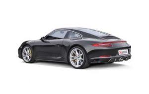 Akrapovic uitlaat Porsche 991.2 Carrera S 4 4S GTS Slip on line Titanium