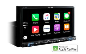 Alpine ILX-702D 2-din digital media reciever met Apple Carplay