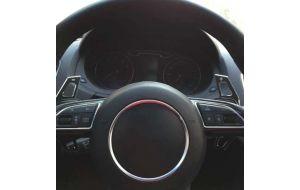 Audi DSG stuur schakel flippers aluminium zwart 2011-