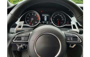 Audi DSG stuur schakel flippers aluminium zilver 2011-