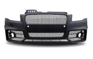 Audi A4 B7 RS4 look front bumper 2004-2007 grill black