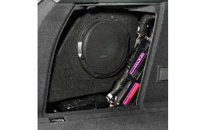 Audi A4 B9 avant pasklare subwoofer Gladen