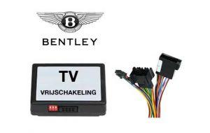 Bentley TV DVD vrijschakeling met inbouw