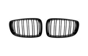BMW 1-serie F20 F21 M look grill nieren mat zwart 11-15 (afbeelding is van de hoogglans)