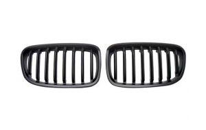 BMW 1-serie F20 F21 grill nieren mat zwart 11-15