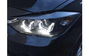 BMW 3-serie F30 F31 Bi-xenon look LED DRL koplampen zwart - Pro Car Tuning