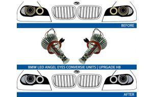 BMW LED angel eyes upgrade 7000K H8 2006>