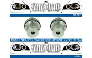 BMW LED upgrade 7000K Angel Eyes 25W
