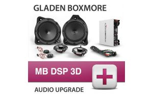 Gladen Boxmore DSP 3D audio upgrade voor Mercedes