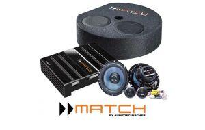 Match audio upgrade DSP versterker, subwoofer en speakerupgrade