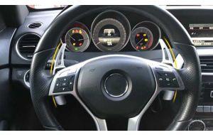 Mercedes stuur schakel flippers aluminium zilver 2012-