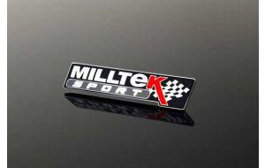 Milltek Sport logo embleem badge zwart origineel