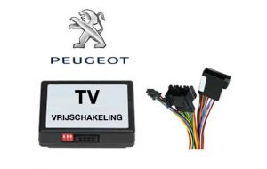 Peugeot TV DVD vrijschakeling met inbouw