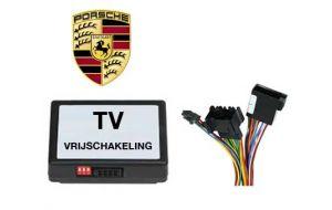 Porsche TV DVD vrijschakeling met inbouw