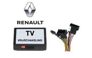 Renault TV DVD vrijschakeling met inbouw