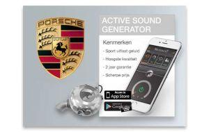 Active sound generator Porsche - Diesel en Hybride