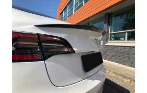 Tesla Model 3 achterklep spoiler glans zwart