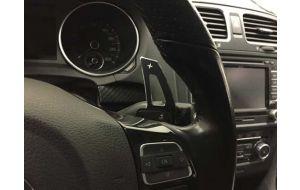 VW Golf 7 GTI GTD GTE R dsg stuur schakel flippers aluminium zwart