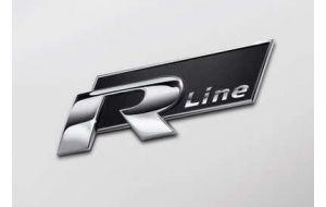VW Golf 6 VI R-line logo embleem groot origineel
