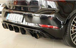 VW Golf 7 GTI facelift diffuser met ribben - Rieger
