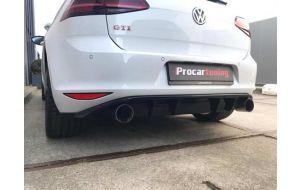 VW Golf 7 GTI diffuser met ribben - Rieger