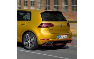 VW Golf 7 Facelift R-line rear diffuser origineel
