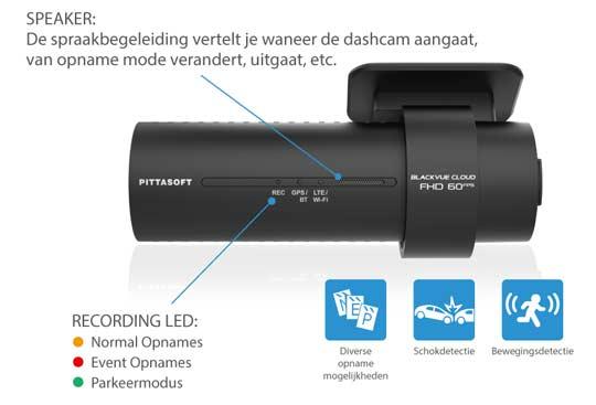 BlackVue DR750X-1CH inbouw dashcam