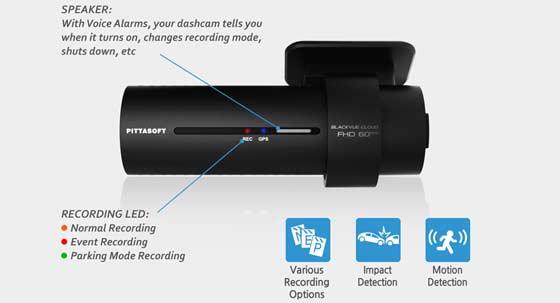 BlackVue dashcam impact en bewegingsdetectie