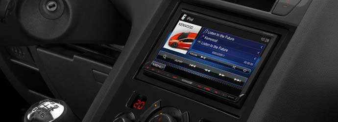 Kenwood car audio banner