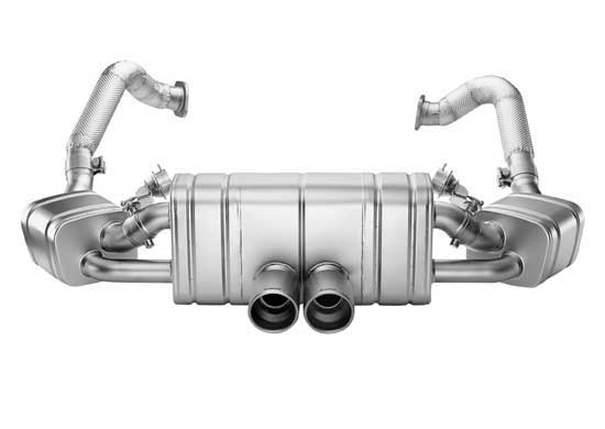 Akrapovic uitlaat Porsche 981 Boxster Spyder