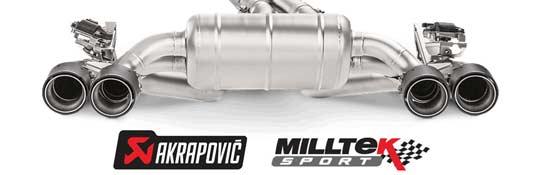 Milltek-Akrapovic-uitlaat-banner
